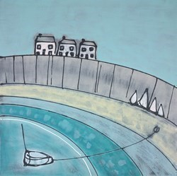 Harbour Mooring by Charlotte Turner -  sized 28x28 inches. Available from Whitewall Galleries